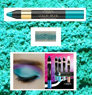 L'Oreal Color Riche Le Crayon Eyeshadow Liner Chunky Pencil PARADISIAC TURQUOISE