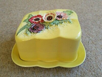 Vintage Beswick Butter/Cheese Dish. Floral Design 1714. Excellent Condition.