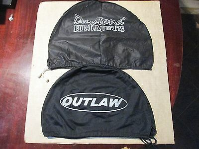 Motorcycle Half Helmet Bag Dust Cover Black Drawstring ( Lot of two ) never used