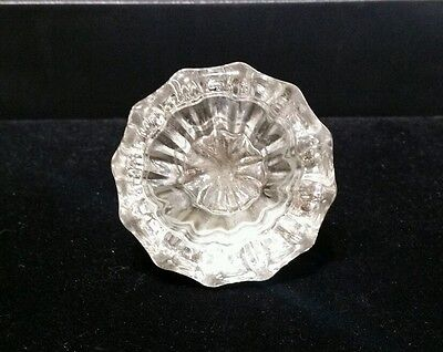 Antique VINTAGE 12 Point Glass Crystal and Brass Door Knob Hardware Finishing