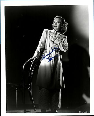 PRISCILLA LANE (D-1995) Signed 8X10 - Arsenic & Old Lace - The Roaring Twenties