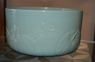 Turquoise Pumpkin Bowl Country Kitchen
