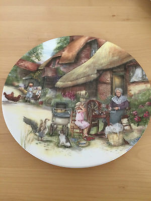 "Royal Doulton Plate ""The Spinner"" 8.5"" 1990"