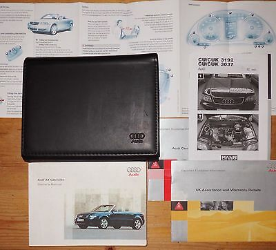 Audi A4 Cabriolet Convertible Owners Handbook  2002-03-04-2005. Reference (863)