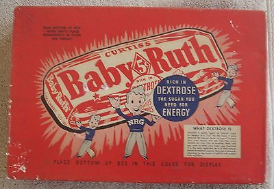 Vintage Curtis Baby Ruth Five Cent Candy Bar Display Box