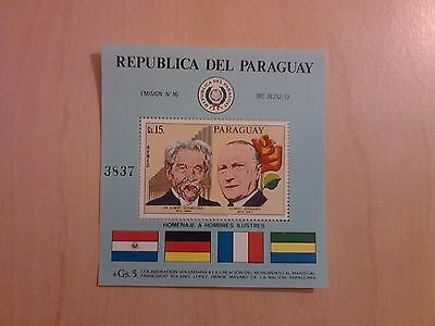 Bloc Timbres Paraguay  Neuf**