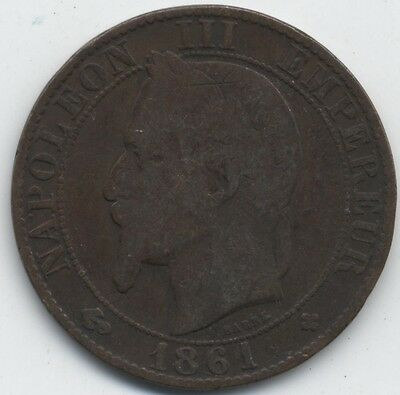 1861 BB France 5 Centimes***Collectors***