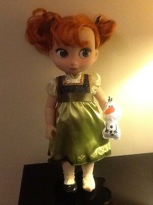 """Disney Store Animator Collection Anna Frozen LARGE Doll 16"""" Tall"""