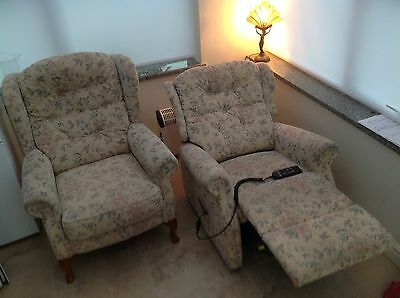 Electric Riser Recliner Chair (Petite). Neutral/beige Mobility Disabled