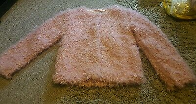 Girls Party or special occasions  fluffy jacket size 9 years old