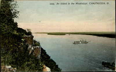 An Island in the Mississippi steamer at Chautauqua Illinois 1910