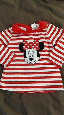 tee shirt manches longues bebe fille 6 mois, minnie Disney
