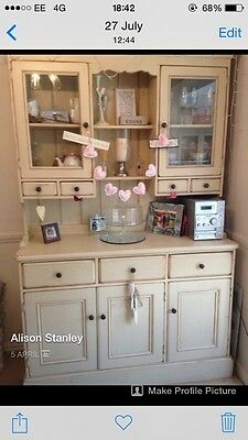 Beautiful shabby Chic French Dresser. Cream Distressed.