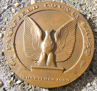Vintage 75th Anniversary Fairfield County Trust Bronze Medal, 1889-1964