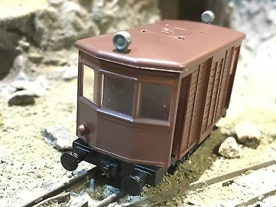 4 WHEEL RAILCAR/TRAMCAR 009 HOe SCALE (NEW - TEST RUN ONLY) BROWN