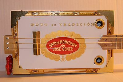 3 String CBG Jose Gener Cigar Box Guitar Short Scale Fretted Acoustic/Electric