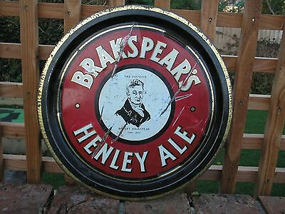 Brakspear's Brewery Henley Ale Metal  Beer Tray Henley On Thames Oxfordshire