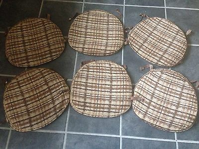 Set Of Six Ercol Chair Pads