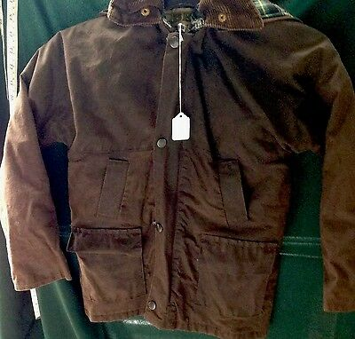 """Waxberry Child's Brown 28"""" Chest Waterproof Jacket With Hood"""