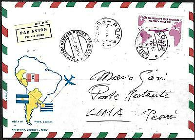 0805 - Italy - 1961 - Air Mail - Rare Gronchi - Cover - Forgery, Fake, Falso