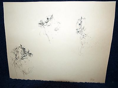 Edouard Detaille French Antique 1800-1899 fine original pen & ink drawing Horses