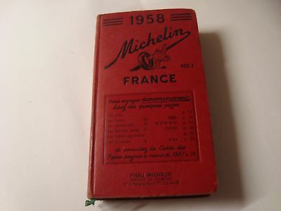 guide michelin rouge annee 1958