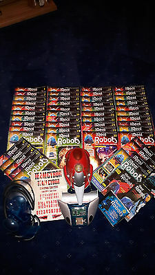 Ultimate Real Robots-Cybot,hand Control.mags 1-49.3 Videos.2 Cd.some Spare Parts