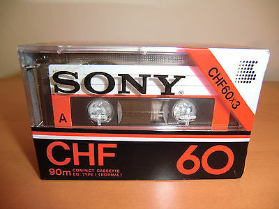 SONY CHF 60 Type I 3 Pack - from 1978 Audio Cassette - NEW / NEU Sealed ! MC !!!
