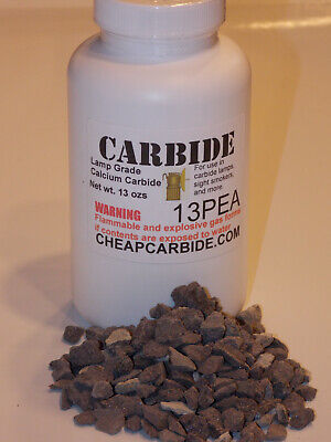 CALCIUM CARBIDE PEA grade lamp miners 1 pound (16 ounces) can