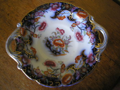Visually Striking Floral Flow Blue Comport, Minton 1846.