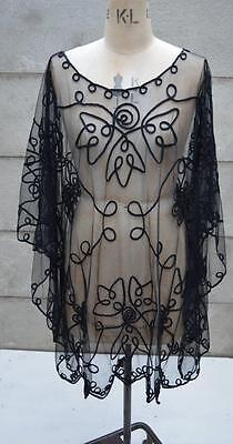 Vintage Sheer Tulle See Through Poncho Dress ( one size)