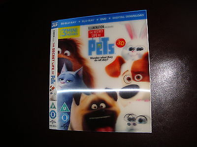 The Secret Life Of Pets Lenticular 3D Movie Slipcase Only Not A Dvd Or Blu Ray