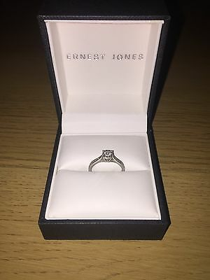 9ct White Gold Diamond Engagement Ring With Documents