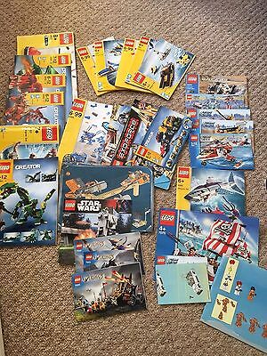 LARGE BUNDLE OF VINTGE LEGO INSTRUCTIONS BOOKLETS MANUALS As seen