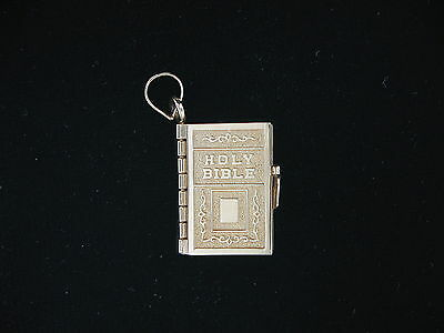 Estate 14K Yellow Gold Bible Charm with Lord's Prayer