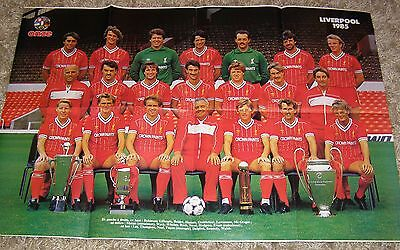 European Cup Winners 1984 - 1985 Liverpool Team Group Rare Poster + Juventus