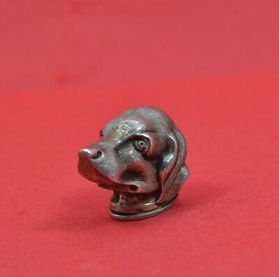 Superb LADIES 19 C sterling silver dogs head pill snuff box G.H.Johnstone & co