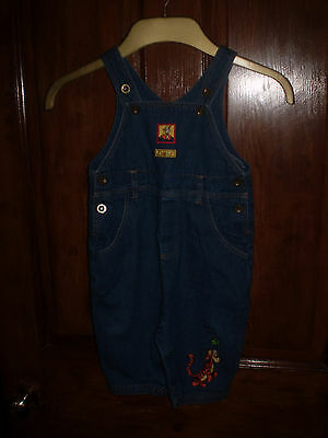 Disney tigger denim long dungarees Size 6-12 mths
