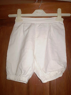 Next white trousers Size 12-18 mths