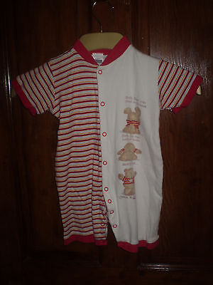 Tesco red short sleep suit Size 12-18 mths