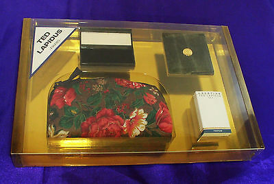 """Ted Lapidus """"Creation"""" gift set- perfume, compact, lipstick holder, cosmetic bag"""