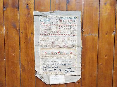 2 Samplers Stitched by Mother and Daughter from Derby 1814 and 1853