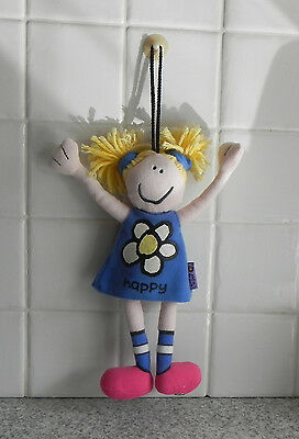 Bang on the door Happy Beanie Doll/hangs from a window/mirror with a suction cup