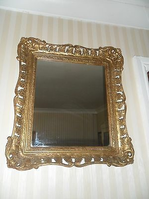 Antique Wood And Gesso Gilt Framed Mirror