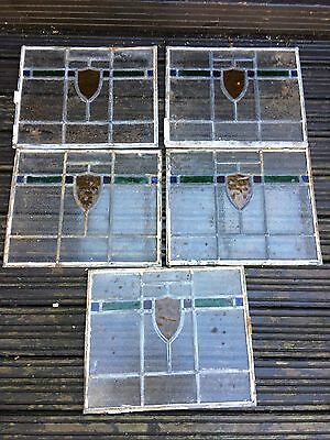 5 X Stained Glass Window Panes Panels £10.00 each