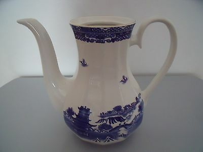 Vintage Collectable Ringtons 2 1/2 Pint Coffee/teapot Willow Pattern Wade