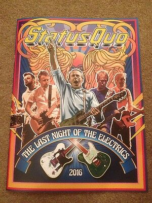 """Status Quo """"The Last Night Of The Electrics"""" Tour Programme 2016"""
