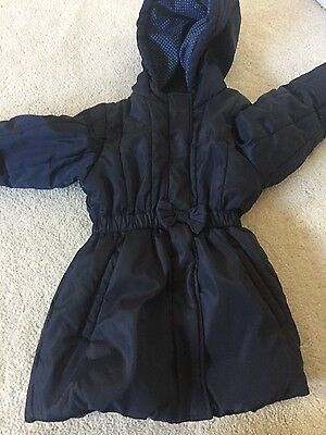 girls navy m&s padded jacket