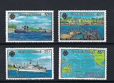 Norfolk Island Mnh 1983 Sg314-317 World Communication Year/anzcan Cable Set Of 4