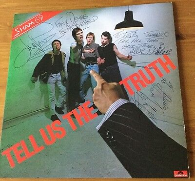 Sham 69 Tell Is The Truth Signed Cover LP Vinyl Record